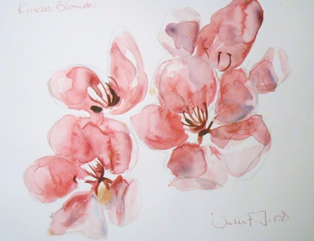 kirsebærblomster,21x28, 450,-