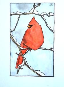 Rød-fugl
