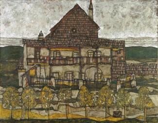Egon Schiele: Haus mit Schindeldach, 1915, 110x140cm